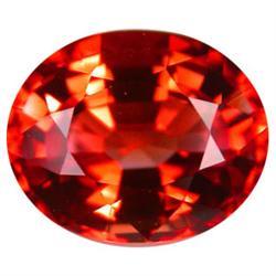 0.41ct Oval Orange Sapphire VVS (GEM-19311B)