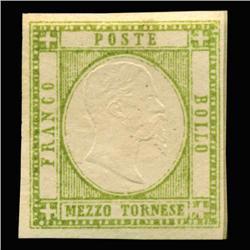 1861 RARE Italy Sicily Neapolitan 1/2t Postal Stamp MINT (STM-0168)