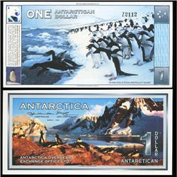 1996 RARE Antartica $1 Crisp Unc Note (CUR-05709)