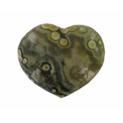 68.77ct Colorful Gem Grade Sea Jasper Heart (GEM-21154)