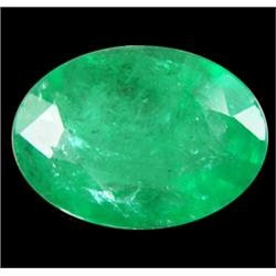 .35ct Alluring Top Green Columbian Emerald Oval 6X4mm (GMR-0980)