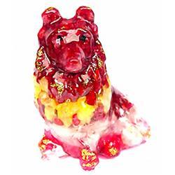 525ct. Dog Statue Fancy Color Sapphire~Topaz (GEM-3025A)