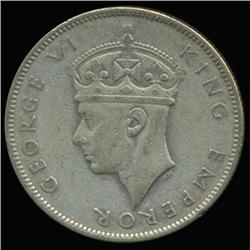 1945 Fiji Florin George VI Hi Grade RARE (COI-6990)
