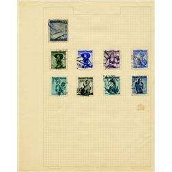 1940s Austria Hand Made Stamp Collection Album Page 9 Pieces (STM-0281)