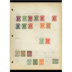 1922 Danzig Hand Made Stamp Collection Album Page 20 Pieces (STM-0106)
