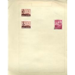 1930s/50s Borneo Hand Made Stamp Collection Album Page 3 Pieces (STM-0245)