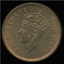 1952 Maritius George VI Cent BU MS65+ (COI-6954)