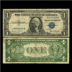1935D $1 Silver Certificate Star Note Circulated SCARCE (CUR-06009)