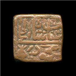 1400? India Unknown Medeival Square Bronze Coin Hi Grade (COI-5781)