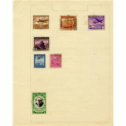 1930s/50s Chile Hand Made Stamp Collection Album Page 7 Pieces (STM-0296)