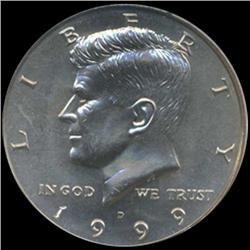 1999D Kennedy Half 50c Coin Graded GEM (COI-6920)