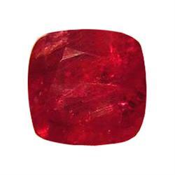 1.45ct Splendid Blood Red Ruby Cushion Facet (GEM-20306B)