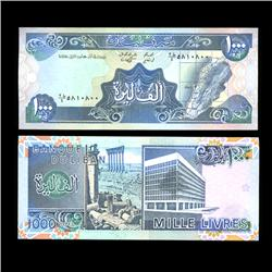 1990 Lebanon 1000 Livres Crisp Uncirculated Note (COI-4570)