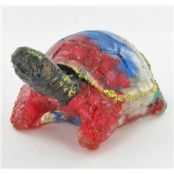 550ct. Star Sapphire & Topaz Turtle/Tortoise Statue (GEM-3031A)