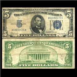 1934 $5 Silver Certificate Circulated (CUR-06040)