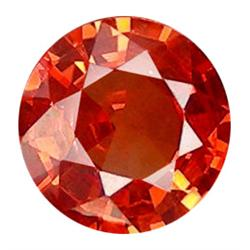 3mm Superior Top Round Orange Natural Sapphire AAA (GMR-0795)