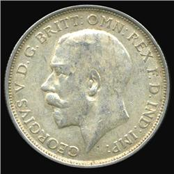 1918 Britain George V Florin AU/Unc Great Toning (COI-7086)