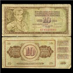 1981 Yugoslavia 10 Dinara Scarce Circulated Note (CUR-05680)