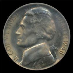 1948S Jefferson 5c Nickel Coin Graded MS67 (COI-4413)