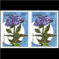 1993 Congo 95f Flower Pair Mint (STM-0648)