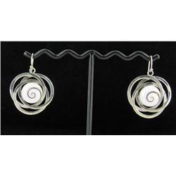 Sterling Shell Earrings (JEW-1386)