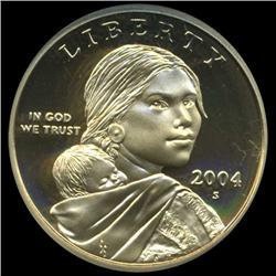 2004S Sacagawea Dollar Graded NGC PR70 DCAM (COI-6379)