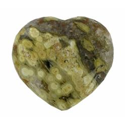 480ct Colorful Gem Grade Sea Jasper Heart (GEM-21150)
