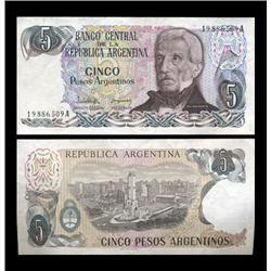 1983 Argentina 5 Peso Note Crisp Uncirculated (CUR-05553)