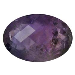 73.45ct Natural Purple Amethyst Checker Cut Oval (GEM-21905)