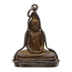 Antique Brass Buddha Amulet Pendant  (ANT-619)
