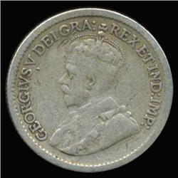 1917 Canada Newfoundland 5c Silver Hi Grade RARE (COI-6749)