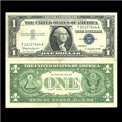 1957B $1 Silver Certificate High Grade AU (CUR-06027)