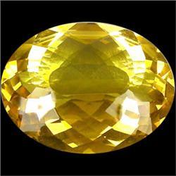 218.5ct Huge Lemon Yellow Quartz Oval Sparkling (GEM-23021)