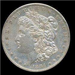 1884S/S Morgan Dollar High Grade Rare Variety RARE RARE RARE Date (COI-5637)