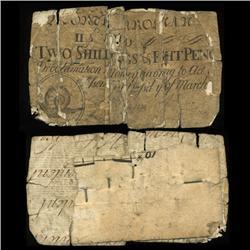 1754 RARE North Carolina 2 Shilling 8 Pence Colonial Note (COI-4123)
