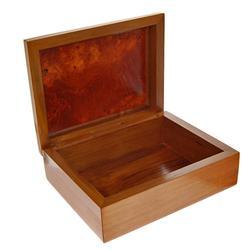 Teak and Burl Wood Handmade Box  (DEC-180)