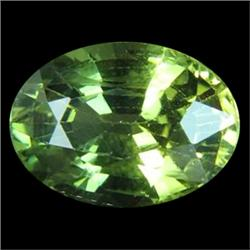 .25Ct Rare Unheated Top Green Sapphire 5X3mm Oval (GMR-0937)