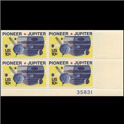 1975 US Pioneer Jupiter 10c Plate Block MINT (STM-0642)