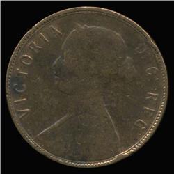 1873 Canada Newfoundland Large Cent RARE (COI-6770)