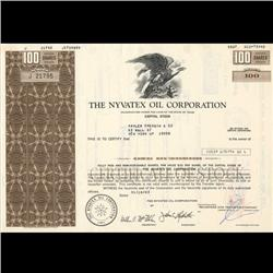 1970s Nyvatex Oil Stock Certificate Scarce Brown (COI-3421)