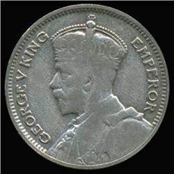 1936 New Zealand Silver Six Pence High Grade (COI-6802)