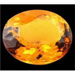 33.20ct Gold Yellow Citrine Natural Appraisal Estimate $6640 (GEM-24780)