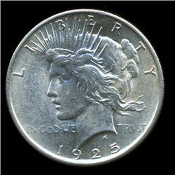 1925 Peace Dollar Choice+ Unc (COI-5647)