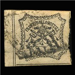 1852 RARE Italy Roman States 8b Postal Stamp (STM-0187)