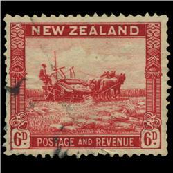 1930 New Zealand 6p Postage Stamp PREMIUM (STM-0568)