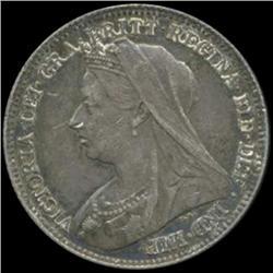 1896 Britain Victoria 6 Pence High Grade (COI-7043)
