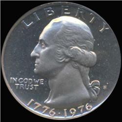 1976S Washington 25c Quarter Coin Graded GEM Proof Deep Cameo (COI-6879)