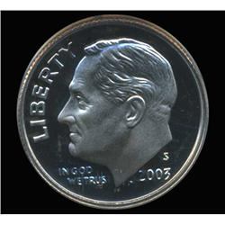 2003S Roosevelt Dime Graded PCGS PR69 DCAM (COI-6421)
