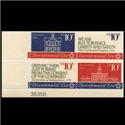 1974 US Bicentennial Era 10c Plate Block MINT (STM-0643)