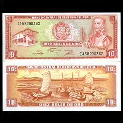 1976 Peru 10 Soles Crisp Uncirculated Note (CUR-05938)